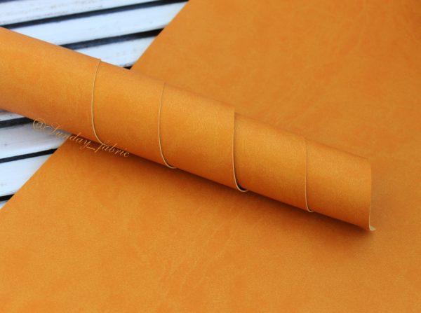 Переплетный кожзаменитель, матовый, цвет: Желто-оранжевый (Италия)