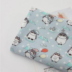 "Хлопок ""Пингвины"", ширина 110 см (Корея)"