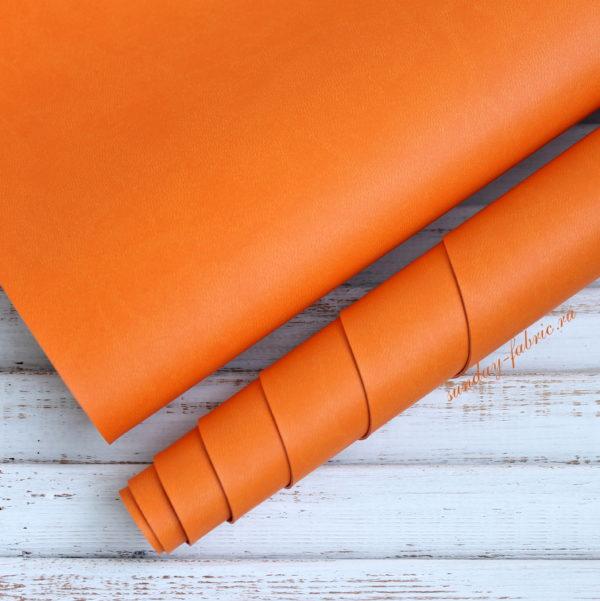Переплетный кожзам, матовый, цвет: Апельсин (Италия)