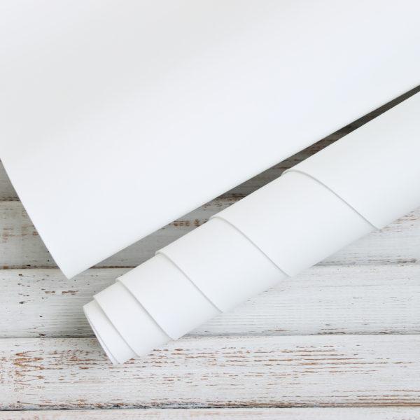 Переплетный кожзам, матовый, цвет: Белый (Италия)