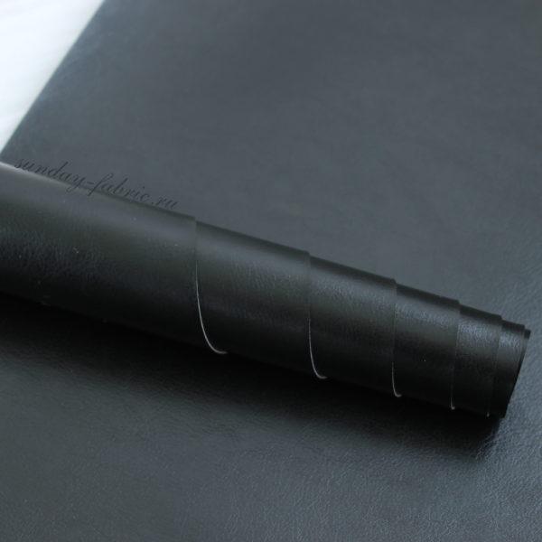 переплетный кожзам черный