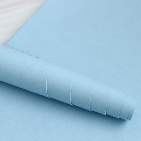 Переплетный кожзам, матовый, цвет: Голубой (Италия)