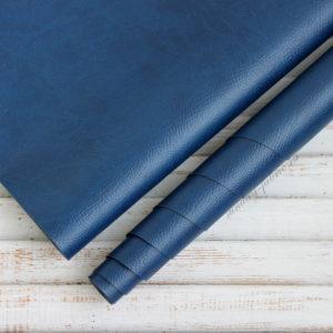 Переплетный кожзам, матовый с тиснением под кожу, цвет: Синий (Италия)