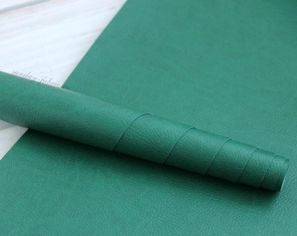 Переплетный кожзам, матовый с тиснением под кожу, цвет: Зеленый (Италия)