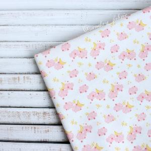 """Хлопок """"Розовые облака"""", ширина 110 см (Корея)"""