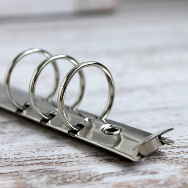 Кольцевой механизм, 22.5 см, кольца 25 мм, Серебро