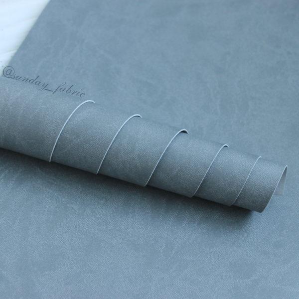Переплетный кожзам, матовый, цвет: Светло-серый (Италия)