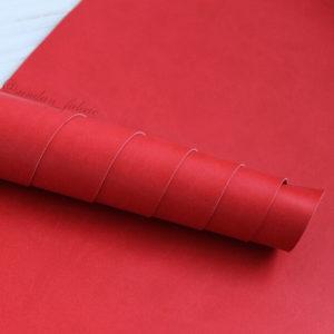 Переплетный кожзам, матовый, цвет: Красный (Италия)