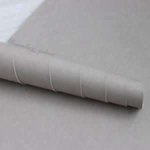 Переплетный кожзам, матовый, цвет: Теплый серый (Италия)