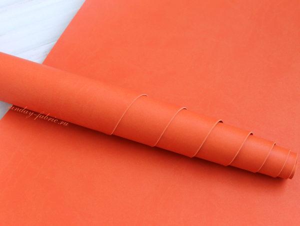 Переплетный кожзам, матовый, цвет: Оранжевый (Италия)