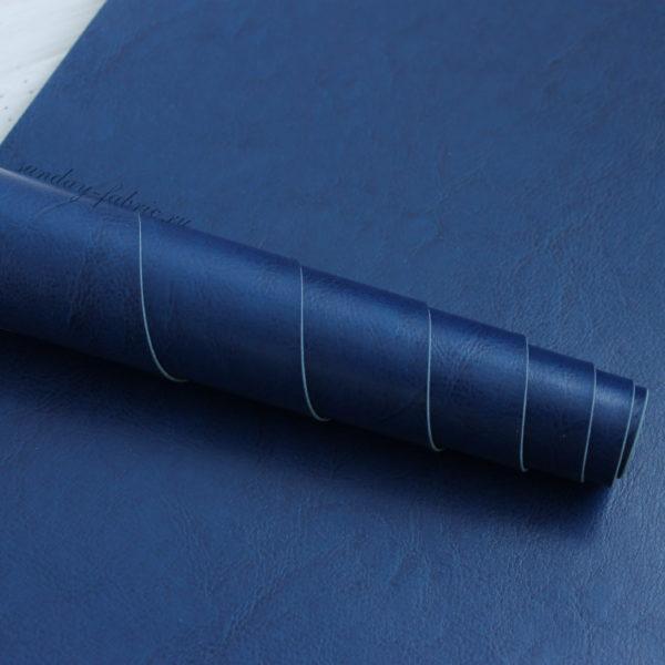 Переплетный кожзам, глянцевый, Ярко-синий (Италия)