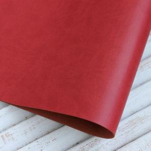 Переплетный кожзам, матовый, цвет: Темно-красный (Италия)