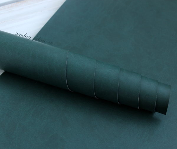 Переплетный кожзам, матовый, цвет: Темно-зеленый (Италия)