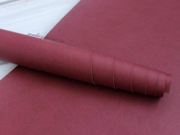 Переплетный кожзам, матовый, цвет: Винный (Италия)