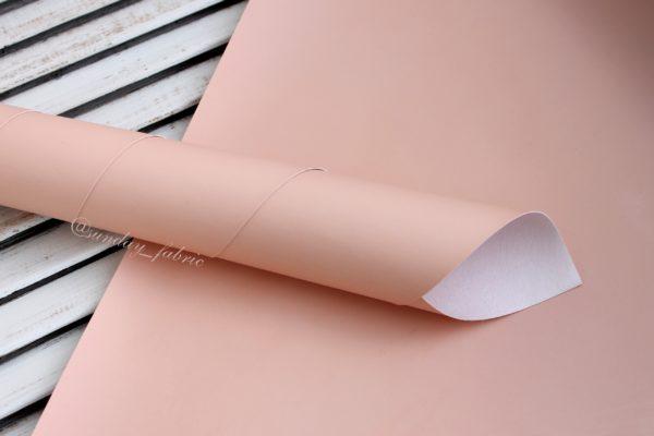 Переплетный кожзам, матовый, цвет: Пыльно-розовый (Китай)