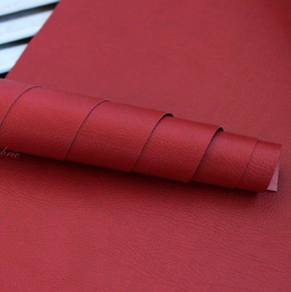 Переплетный кожзам, матовый с тиснением под кожу, цвет: Красный (Италия)