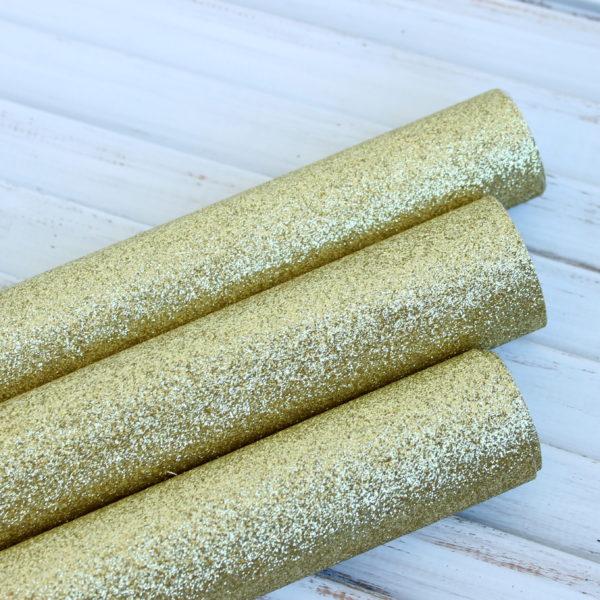 Ткань с глиттером, цвет: Золото (Китай)