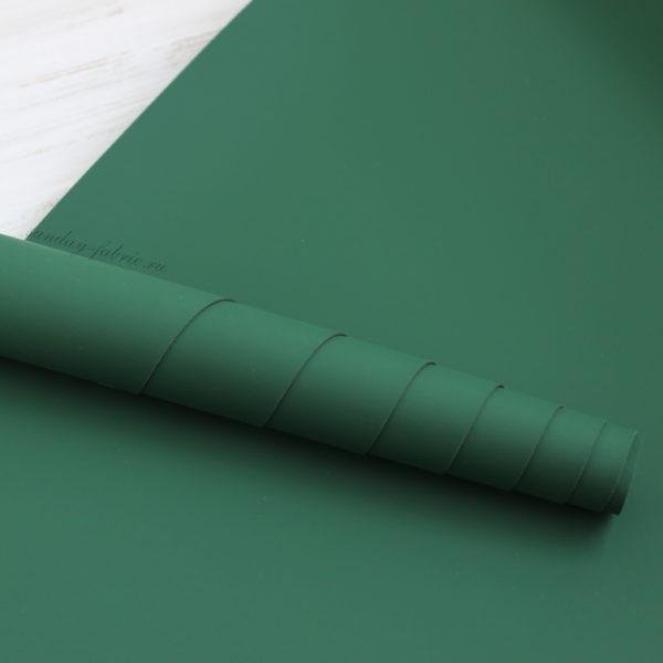 Переплетный кожзам, матовый, цвет: Новогодний зеленый (Китай)