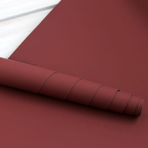 Переплетный кожзам, матовый, цвет: Бордовый (Китай)