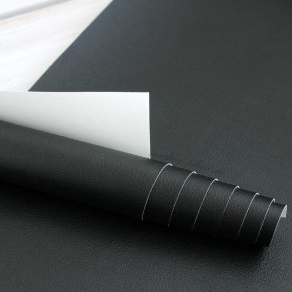 Переплетный кожзам матовый, цвет: Черный/Белый (Италия)