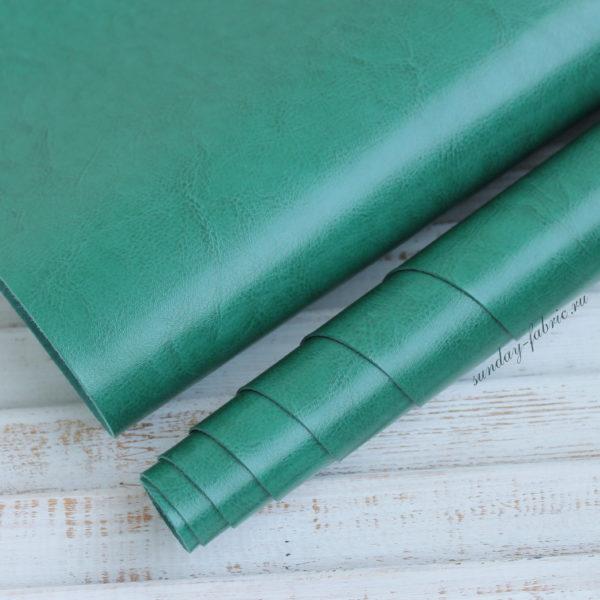 Переплетный кожзам, глянцевый, Яркий зеленый (Италия)