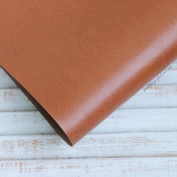 Переплетный кожзам, глянцевый, Светло-коричневый (Италия)