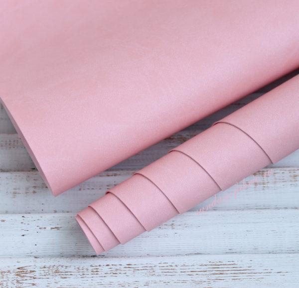 Переплетный кожзам, матовый, цвет: Розовый (Италия)