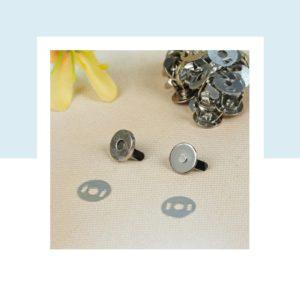 Кнопка магнитная с рисунком, диаметр 10 мм, цвет: Серебро
