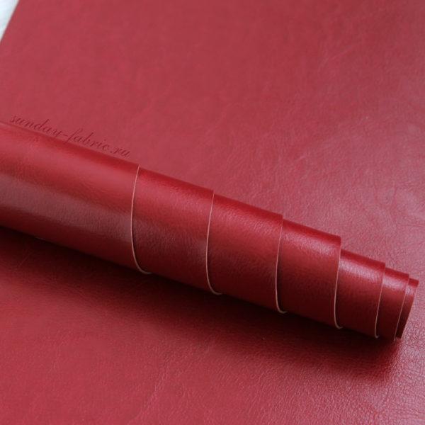 переплетный кожзам темно-красный