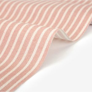 """Хлопок Dailylike """"Кремовые полосы на розовом"""", ширина 110 см (Корея)"""