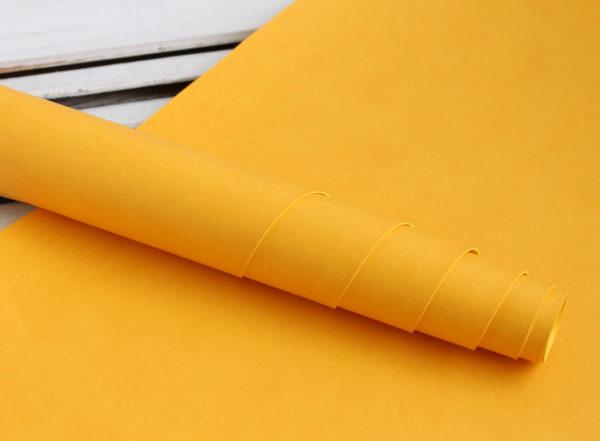 Переплетный кожзам, матовый, цвет: Желтый (Италия)