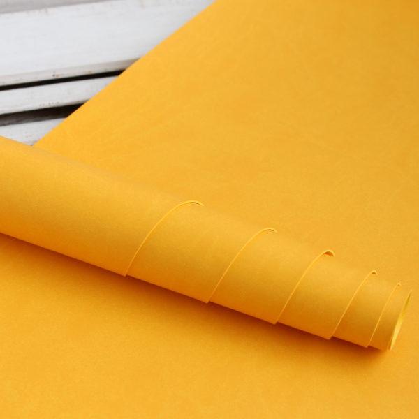 переплетный кожзам желтый