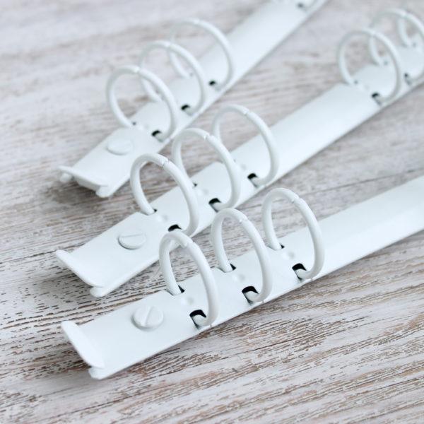 Кольцевой механизм, 22,5 см, кольца 25 мм, Белый