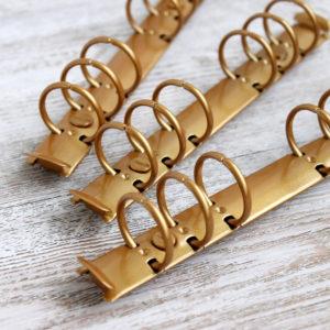 Кольцевой механизм, 17,5 см, кольца 25 мм, Золото