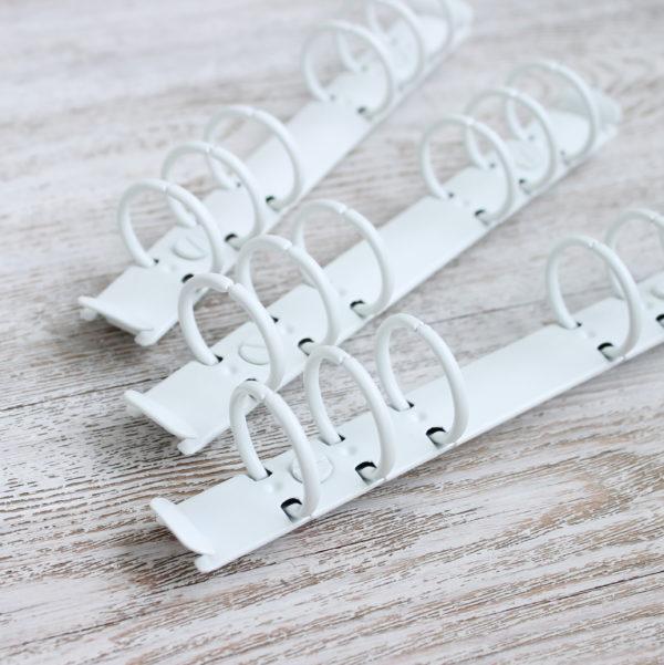 Кольцевой механизм, 17,5 см, кольца 25 мм, Белый