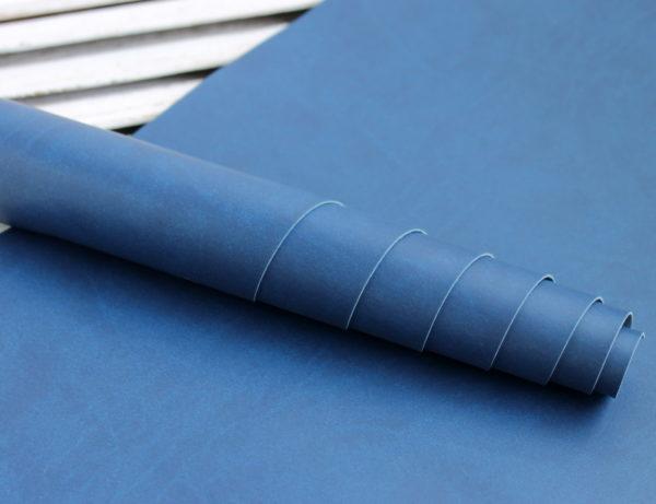 Переплетный кожзам, матовый, цвет: Синий (Италия)