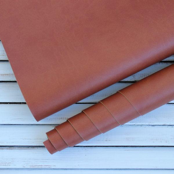 Переплетный кожзам, матовый, цвет: Рыжевато-коричневый (Италия)