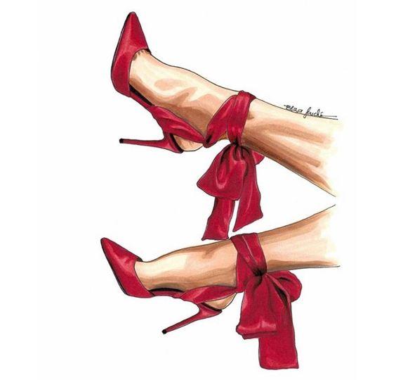 """Термотрансферная картинка """"Красные туфли"""" 90*50"""