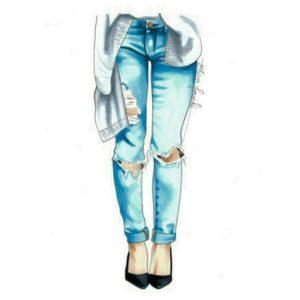 """Термотрансферная картинка """"Рваные джинсы"""""""