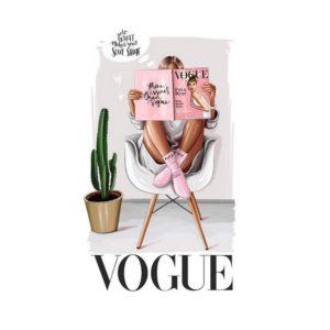 """Термотрансферная картинка """"Журнал VOGUE"""""""