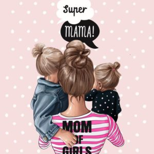 """Термотрансферная картинка """"Супер мама"""""""
