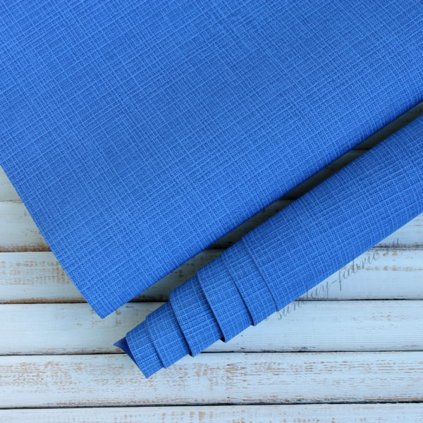 Переплетный кожзам, матовый с тиснением, цвет: Синий (Италия)