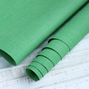 Переплетный кожзам, матовый с тиснением, цвет: Зеленый (Италия)