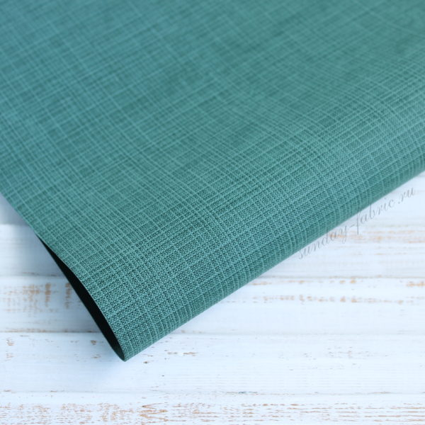 Переплетный кожзам, матовый с тиснением, цвет: Темно-зеленый (Италия)