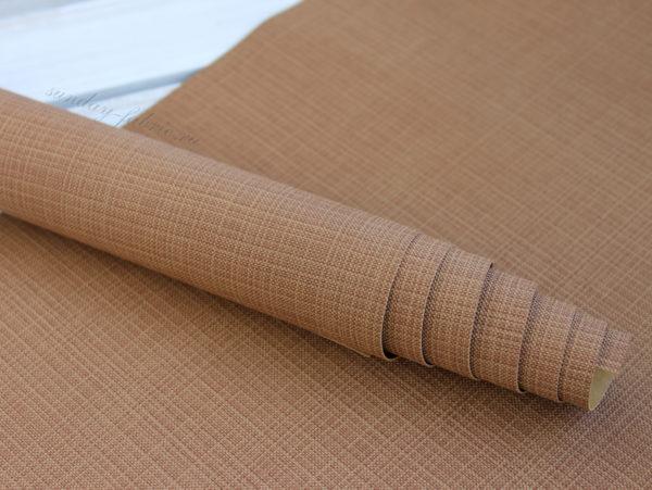 Переплетный кожзам, матовый с тиснением, цвет: Коричневый (Италия)
