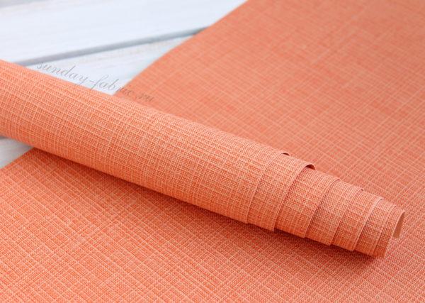 Переплетный кожзам, матовый с тиснением, цвет: Оранжевый (Италия)