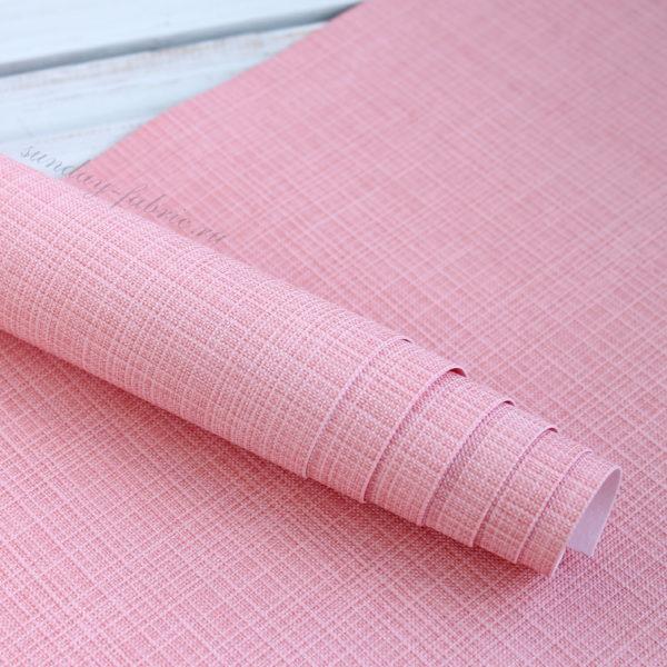 переплетный кожзам розовый