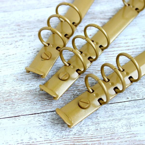 Кольцевой механизм, 22,5 см, кольца 25 мм, Золотисто-бежевый