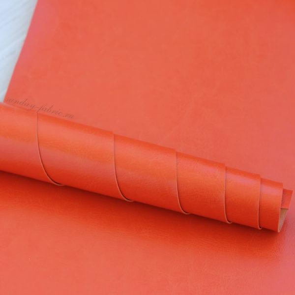 Переплетный кожзам, глянцевый, Оранжевый (Италия)