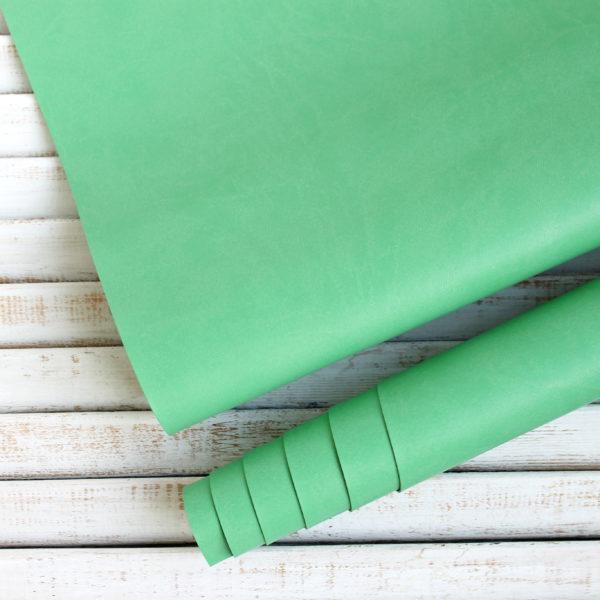 Переплетный кожзам, матовый, цвет: Светло-зеленый (Италия)